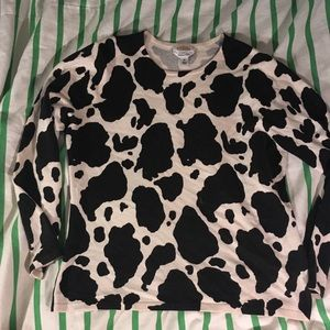 Cow cashmere sweater